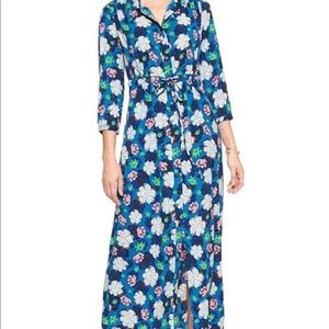 Banana Republic Button Front Floral Shirt Dress